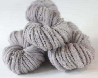 "Hand dyed yarn thick and Thin Yarn hand spun merino ""Vapour"", knitting yarn, dollmaking, weaving, crochet"