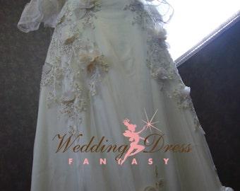 Hippie Boho Wedding Dress Custom Made to Your Measurments