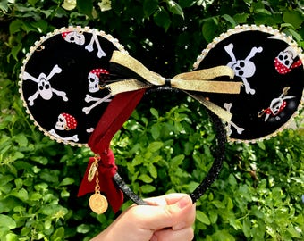 Pirates Of The Caribbean Inspired Mouse Ears