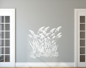 Sea Oats Decal | Sea Grass Decal | Vinyl Wall Decal | Beach Decal | Beach House Decor | Wall Decor | Grass Decal | Style C 22424