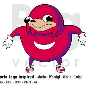 Ugandan Knuckles EPS SVG PNG Ai dxf cuttable and printable files