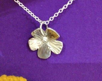 Sterling silver flower