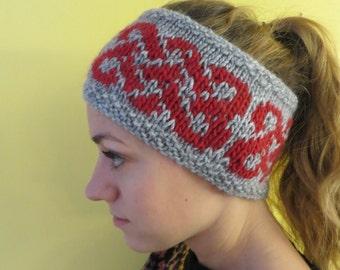 Wool handknit headband