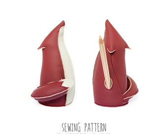 Instructions for Sewing the Fox Paperweight / Pen Holder, Diy Pattern, Sewing Pattern & Tutorial, PDF INSTANT DOWNLOAD, Sewing Diy handmade