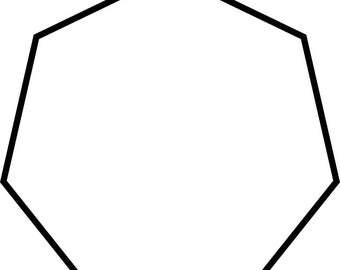 Polygon bases for paper flowers PDF file (all sizes) circles, hexagon ,heptagon,octagotn and pentagon
