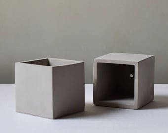Diy CONCRETE SILICONE MOLD Square Cube Cement Mould Pot Plant Geometric Home Business Market Clay Pottery Resin Casting