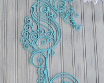Seahorse Decor. Seahorse Wall Decor. Coastal Decor. Beach Decor. Nautical Decor. Sea Horse Art. Nursery Decor. Bathroom Decor. Seahorse