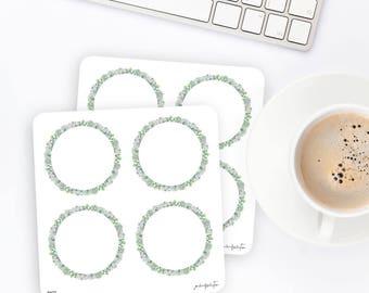 FW23 | Wreath Sticker | Decorative Sticker | Watercolor Sticker | Succulent Sticker | Planner Stickers | Bullet Journal Stickers