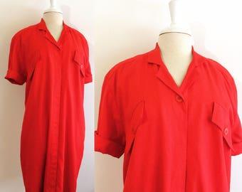 J.Tiktiner Vintage Red Sheath Dress Bergdorf Goodman Vintage Dress