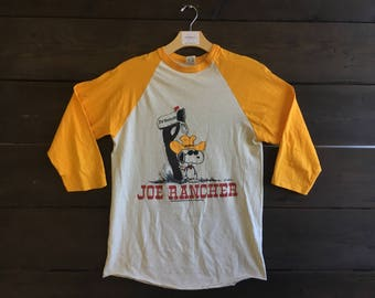 Vintage 70's Joe Rancher Snoopy Tee
