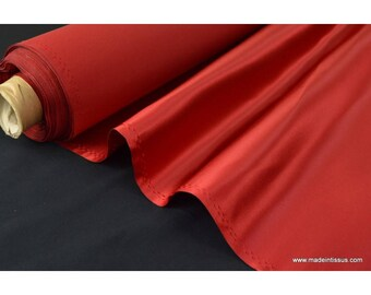 Red polyester Duchess satin.