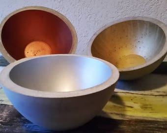 Huge concrete bowl, gift idea, unique pieces