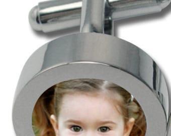 Custom Photo Cufflinks - Stainless Steel - Waterproof