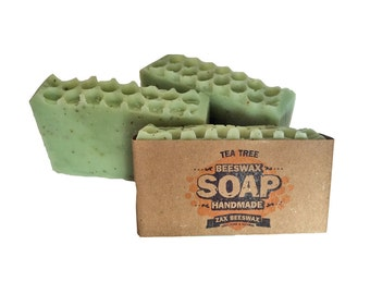 Tea Tree Natural Handmade Beeswax Soap