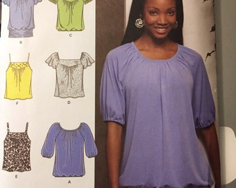 Plus Size Knit Tops Sewing Pattern Simplicity 2971  Size 16-24 Bust 38 to 46 Inches Uncut Complete