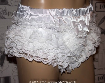 The Sophie Satin Frilly Panties