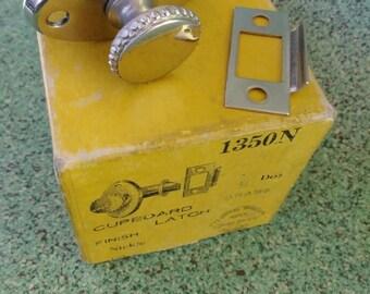 Vintage 1950s Cabinet Latches 50 Pulls Handles MCM Hardware Set of 4