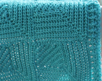 Download Now - CROCHET PATTERN Coastal Waters Throw - Make to Any Size - Pattern PDF