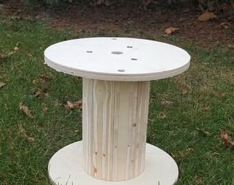 """Wooden Wire Spool 16"""" Diameter Top 15 1/4"""" Height"""