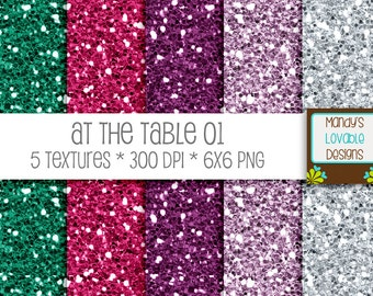 SALE - At The Table Glitter Textures - Green Pink Purple Silver - Scrapbooking, Photography, Blog Design, Invitations - CU OK