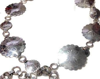Vintage Silvertone Shell Link Belt