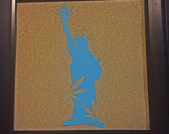 Weed liberty - cannabis inspired paper art, cannabis decorations, cannabis wall art