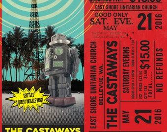 Castaways East Shore Live! Gig poster
