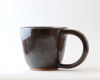 Large Black Ceramic Mug