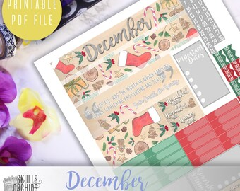 50% OFF! HAPPY PLANNER December Monthly View Kit – Printable Planner Stickers