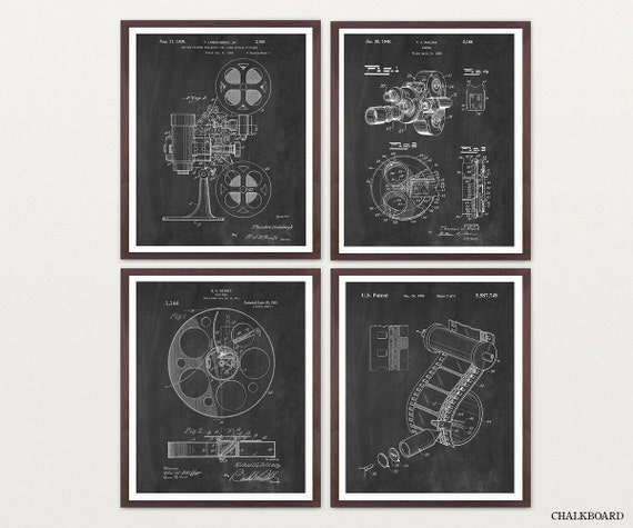 Cinema Patent Collection - Movie Patent - Movie Poster - Film Camera - Movie Projector - Film Reel - Film Patent - Camera Patent Film Patent