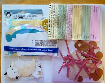 Baby Scrapbook Lot/Cow Jumped over the moon Laser Cut/Baby Scrapbook Paper Cut outs