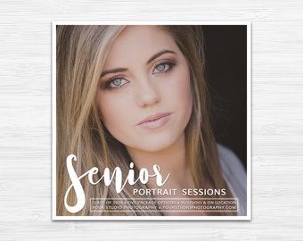 Senior Portrait Session Template | Photography Marketing