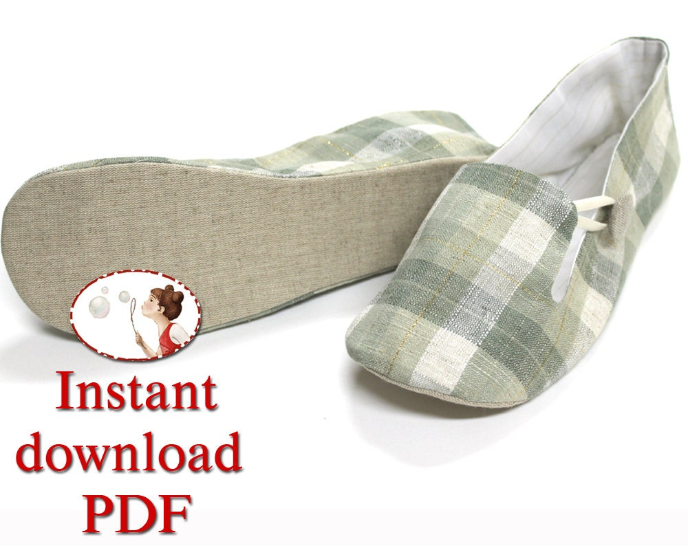Sewing shoes pattern womens loafer slippers pdf diy zoom jeuxipadfo Images