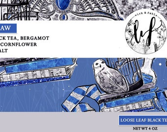Ravenclaw Loose Tea Blend - Earl Grey, Vanilla, Bergamot, Cornflower Petals   Harry Potter Inspired
