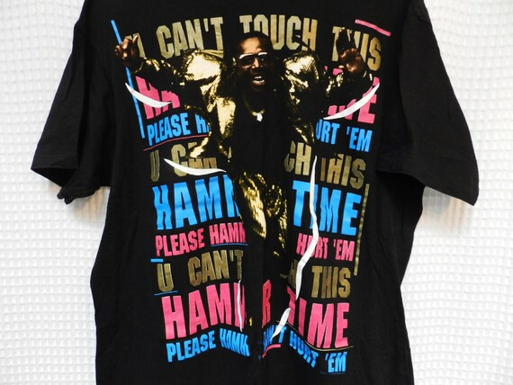 On Sale Vintage MC Hammer U Cant Touch This Concert T Shirt Hip Hop Rape Rare Qv51ZVi