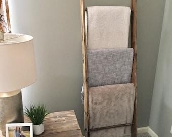 Rustic Blanket Ladder, Towel Ladder, Decorative Ladder