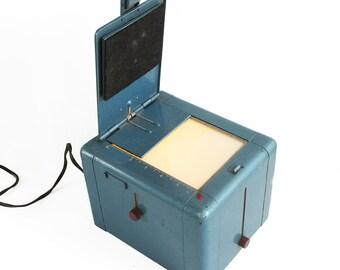 Mid Century Photocrat Print Box - Photo Contact Print Burner - Darkroom Equipment