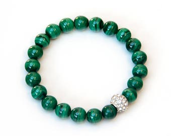 malachite bracelet, green bracelet, malachite, bracelet, yoga bracelet, malachite jewelry, healing bracelet, natural malachite, bracelets