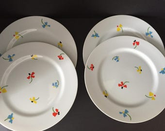 Studio Nova Primary Petals Set of Four Dinner Plates Spring Table Summer Dishes & Studio nova   Etsy