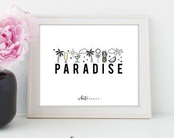 A4 Wall Art Print   Paradise