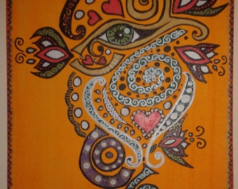 Original Acrylic Art design on Canvas