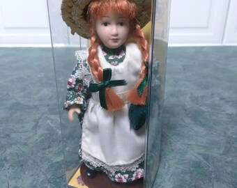 Anne Of Green Gables Heritage Edition Porcelain Doll By Avonlea Traditions Inc. 4.5 In