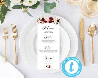 Table setting menu | Etsy