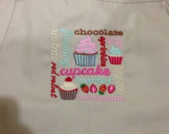 Embroidered Apron-Coffee Square (Apron 3)