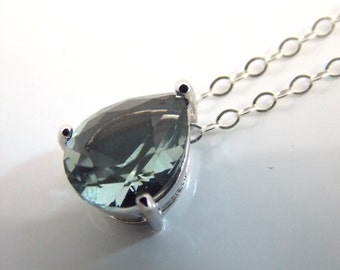 Gray Necklace, Grey Necklace, Glass Necklace, Charcoal Pendant, Silver, Wedding Jewelry, Bridesmaid Necklace, Bridesmaid Gifts