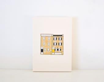CUSTOM HOUSE PORTRAIT - Custom Wedding Gift - Custom Home Portrait - Custom Housewarming Gift - Personalized House Portrait - House Drawing