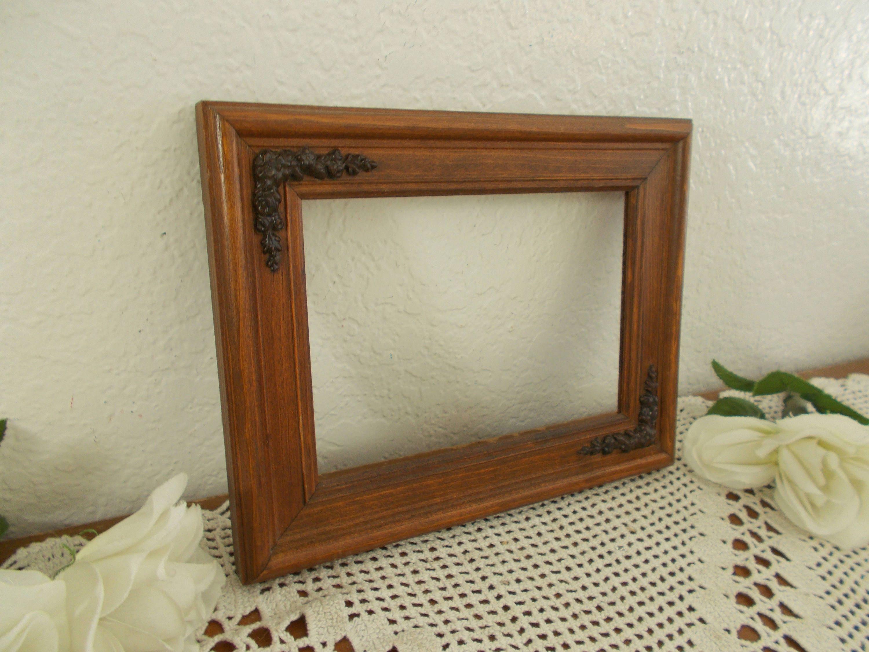 Cuadro de madera tallado Vintage marco 5 x 7 foto decoración ...