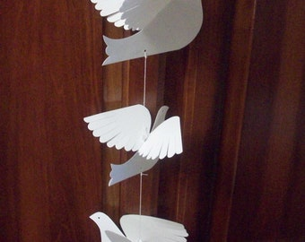 Paper Birds--Three Bird Mobile
