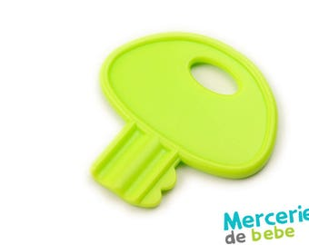 Red decorative element - shaped key - C16 - V9