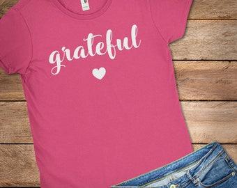 Grateful Shirt, Grateful mama, Grateful tshirt, Grateful Thankful Blessed Shirt, Grateful T-Shirt, Grateful Shirts Women, Cute Fall Clothes